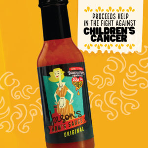 Bottle of Jason's Mom's Hot Sauce